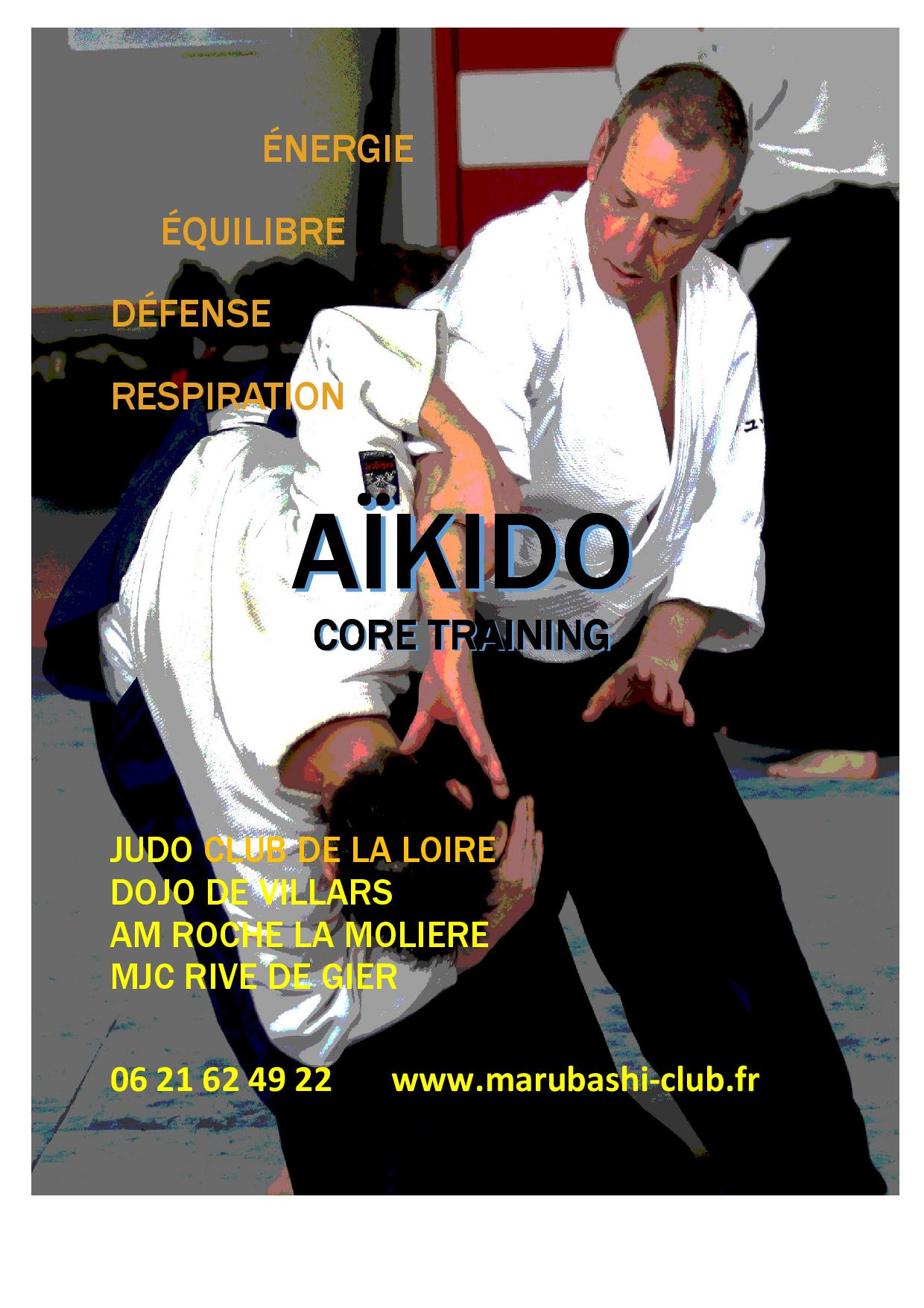 AÏKIDO core training – 04 77 33 61 97- 06 21 62 49 22